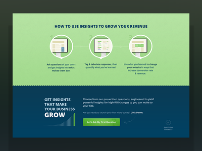 Usuar.io blue green cta infographic webdesign simple simplicity minimalism clean