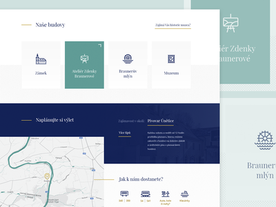 Regional museum website typography pattern minimal clean grid map route contact icon design web museum