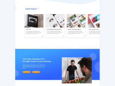 Yas Website Homepage Design | Graphic Design Web App