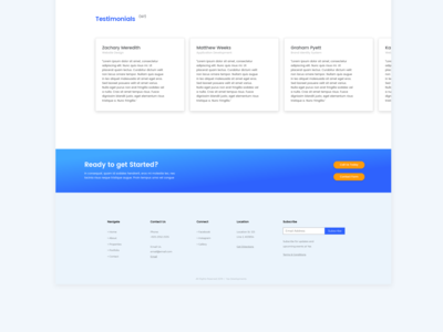 Yas Website Homepage Design | Graphic Design Web App Footer