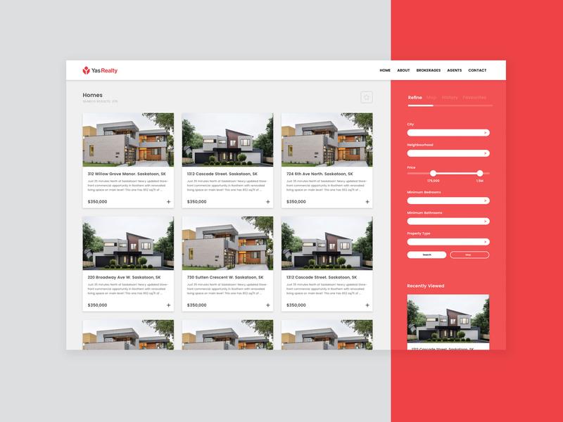 YasRealty Design Prototype | Homepage, Web Design app website web graphicdesign typography homepage web design ux ui
