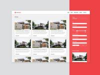 YasRealty Design Prototype   Homepage, Web Design