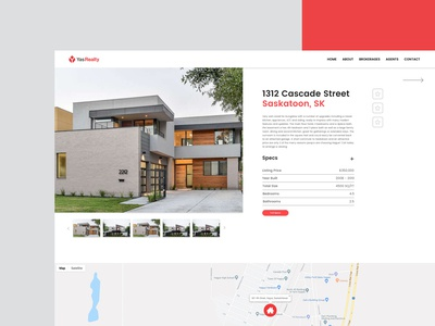 YasRealty Design Prototype | Homepage, Web Design