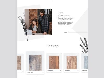 Local Flooring | Homepage Design