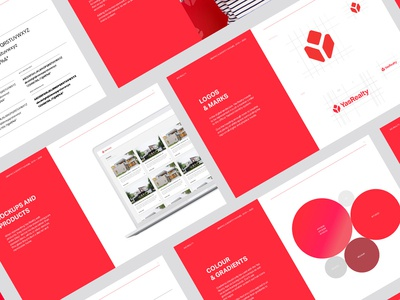 Yas Realty Style Guide Pages | Design