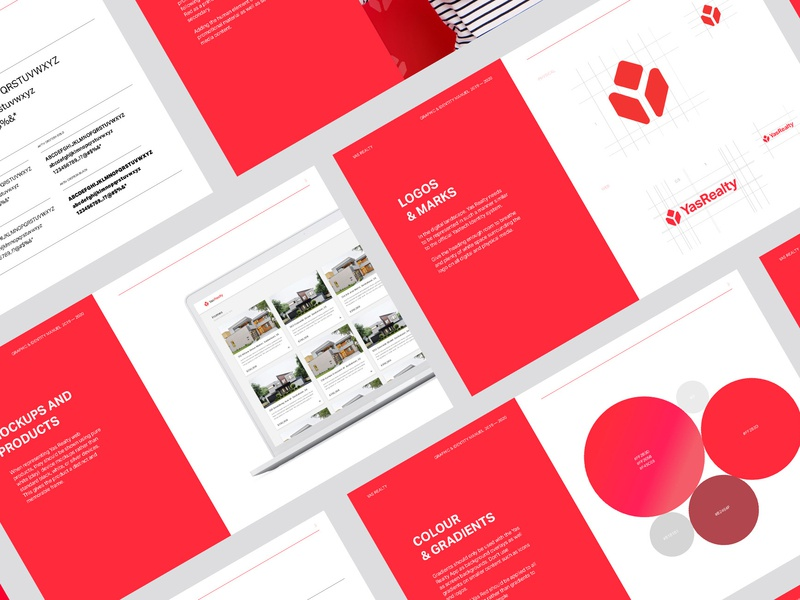 Yas Realty Style Guide Pages | Design style frame colour guide style guides uiux styles style guide