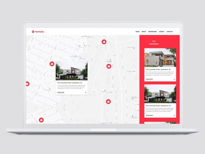 Yas Realty Homepage Design App