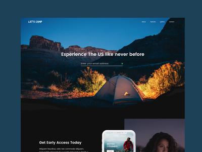 Campsite App Landing Page | Website