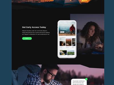 Camping Website App Mockup