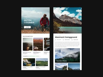 Mobile Camping Software App Design