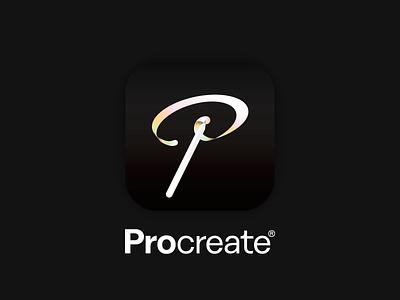 Procreate App Icon illustrator vector app icon procreate