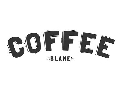Coffee Blame Logo illustrator draw ipad video game logo coffee