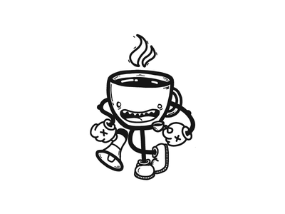 Coffee Blame Character video game character ipad illustrator draw coffee