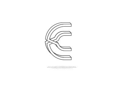 Single Letter Logo - Daily Logo Challenge 4/50 B&W 3d c logo daily logo challenge daily logo letter