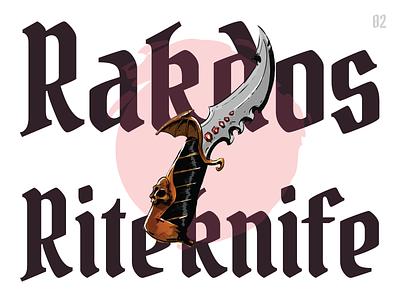 Rakdos Riteknife procreate app weapons illustration dungeons and dragons dndarmory dagger knife
