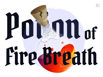 Potion of Fire Breath illustration procreate dungeons and dragons potion dndarmory