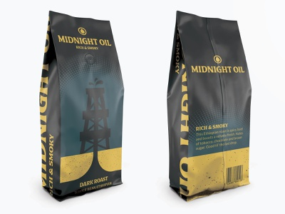 Weekly Warm-Up 8: Midnight Oil Packaging illustration packaging coffee weekly warm-up warmup weekly