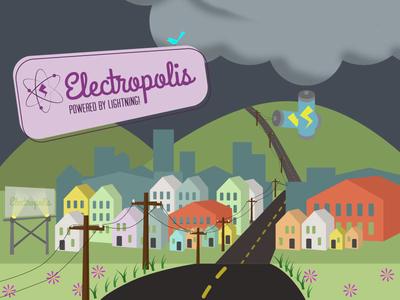 Electropolis - Train Jam 2016 game jam train art game art illustration gamedev