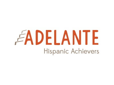 Adelante Hispanic Achievers logo youth branding rebrand louisville logo