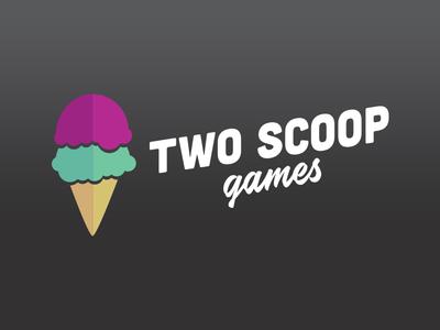 Twoscoopgames game development game studio studio illustration design logo