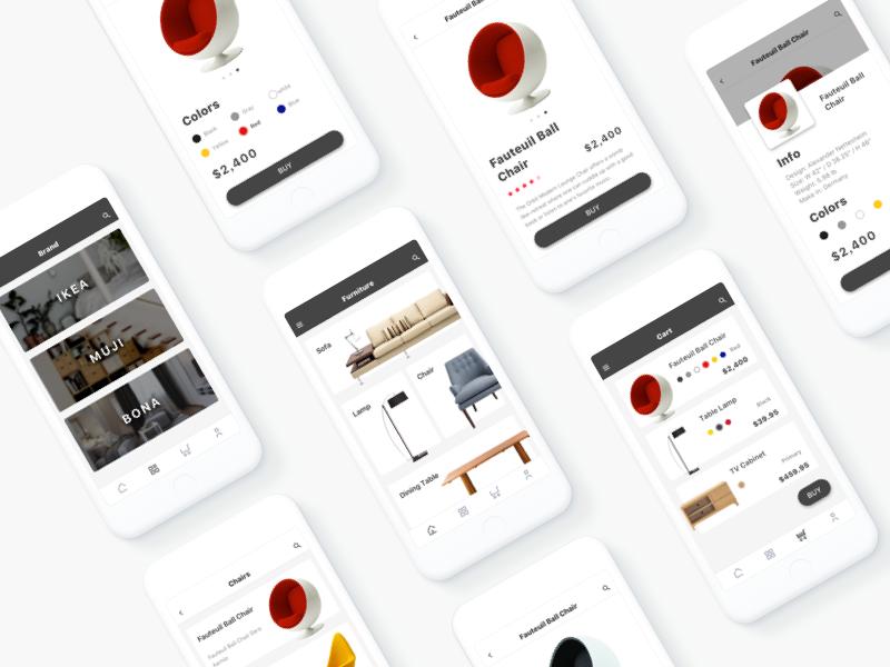 Furniture App 4 by Gongchen Dribbble