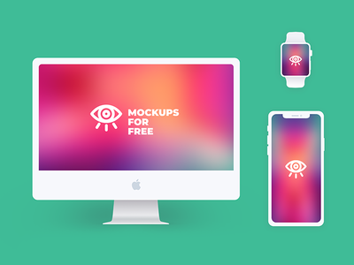 Apple Products from  Mockupsforfree