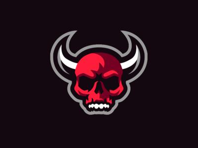 Demon Skull Mascot Logo mascot logo skeleton devil death demon logo skull logo skull demon skull demon