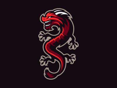 Dragon Mascot Logo mascot logo serpent snake fire dragon logo logo dragons