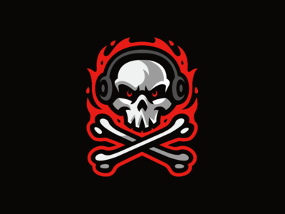 Skull Mascot Logo bones skull and crossbones reaper death fire flame skull icon skull logo skull skull mascot logo