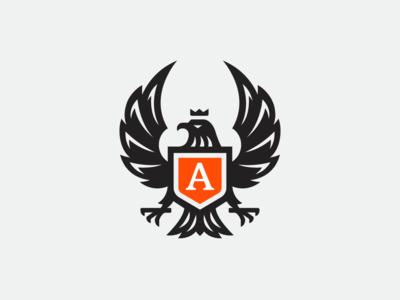 Anyfn Logo Design badge shield logo shield griffin icon bird logo logo icon eagle icon eagle mascot mascotlogo mascot griffin logo gryphon griffin eagle logo