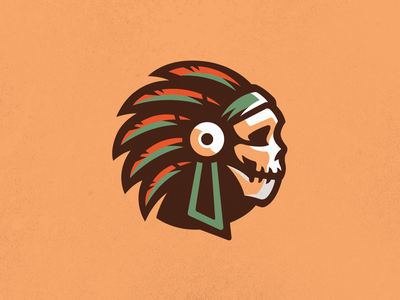 Tribe Chief Logo chief logo indian logo skull logo native american native skull promo chief tribe