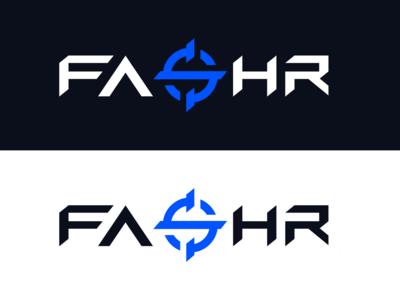 FASHR Logo Design clean logo design gaming crosshair scope text text logo esportslogo esports wordmark logodesign