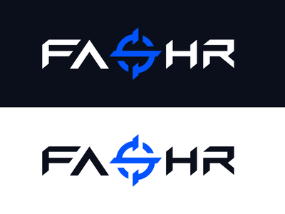 FASHR Logo Design clean logo design gaming crosshair scope text text logo esportslogo esports wordmark logodesign