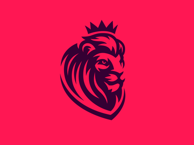 Lion Logo Design king wild soccer crown cat logodesign icon mascot mascotlogo lion mascot logo lion mascot lion logo lion