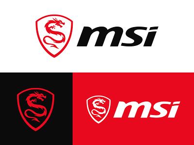 MSI Logo Redesign logo logo designs logo design redesign esports gaming logo beast shield dragon icon dragon mascot shield logo dragon logo dragon