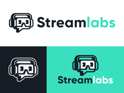 Streamlabs Logo Redesign mascotlogo mascot revision icon logodesign branding headphone headset streamer twitch redesign logo stream