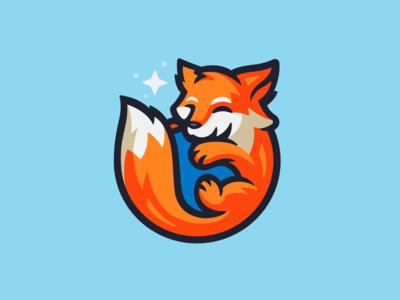 Firefox Logo Design logodesign logo branding orange small mascotlogo mascot cute dog wolf logo firefox wolf fox icon fox logo