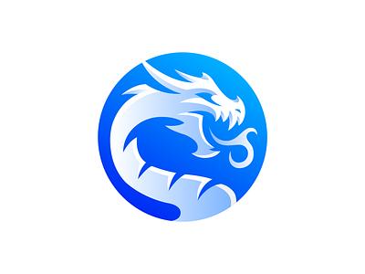 Dragon Logo Design circle icon logodesign monster beast blue dragon icon dragon logo logo dragon