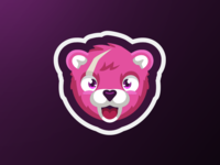 Fortnite Bear Mascot Logo