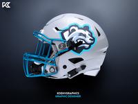 Polar Bear Mascot Logo - Football Helmet