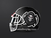 Grim Reaper Mascot Logo - Football Helmet