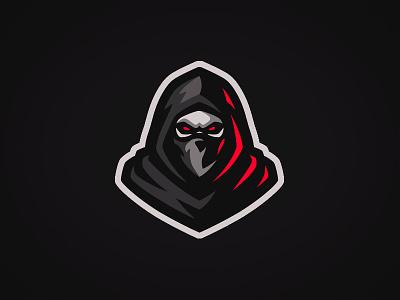 Hooded Ninja Mascot Logo hood grim reaperlogo ninjalogo logo reaper ninja hooded hooded ninja mascot logo