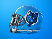Wolf Mascot Logo - Football Helmet