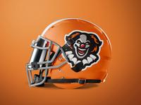 Clown Mascot Logo - Football Helmet