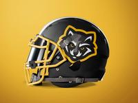 Raccoon Mascot Logo - Football Helmet