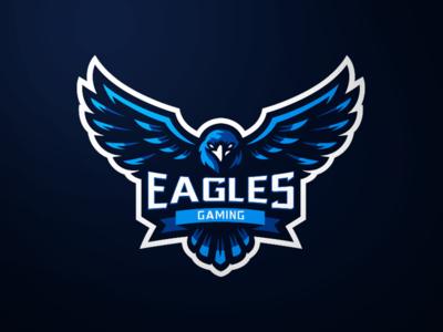 Eagle Mascot Logo gaming esports eagle hawk logo hawk blue bird blue eagle logo mascot logo mascot eagle mascot logo