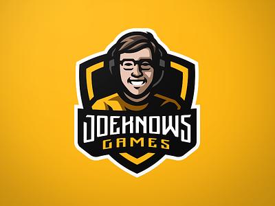 Joe Knows Games Mascot Logo gamer games gaming sports esportslogo esports human logos mascot logo logo mascot