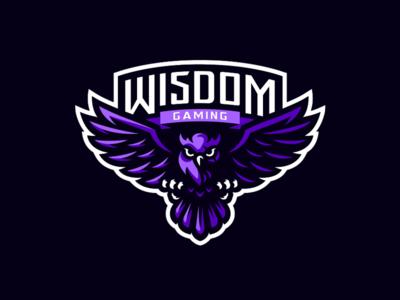 Wisdom Gaming Mascot Logo