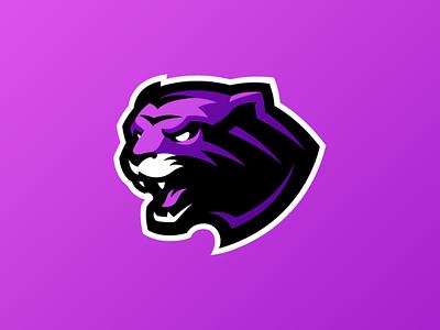 Tiger Mascot Logo cat cat logo wildcats wildcat panther cougar lion purple logo tiger logo tiger mascot mascot