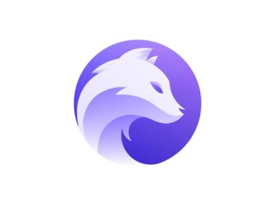 Wolf Logo Design fox purple logo wolf logo wolf